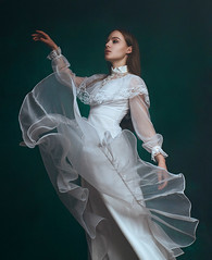 Flying (kristina.tsvetkova) Tags: portrait portraitphotography portraiture finland helsinki fineart fantasy fairytale fairy fashion moody model natural strobelight studio dress dreamy romantic preraphaelite painterly girl woman gentle feminine valokuvaaja