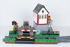 Santa Maria Rail Signal Box 1 (Cuahchic) Tags: lego train minifig car signalbox grass trafficlight crossing stairs landscape