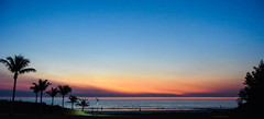 Broome - Western Australia (Marian Pollock) Tags: australia broome westernaustralia sunset palms ocean sea clouds silhouette beach dusk cablebeach colourful kimberleys landscape colorful water