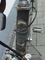 Bastler (mkorsakov) Tags: münster city innenstadt fahrrad bike bicycle logo headbadge retro vintage bastler rost rust character möwe seagull