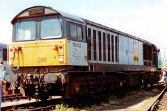 58002 Gloucester 04.08.91 (jonf45 - 4 million views -Thank you) Tags: br british rail train railway gloucester open day 4th august 1991 railfreight coal class 58 58002 daw mill colliery