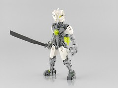 Solek (Anthony (The Secret Walrus) Wilson) Tags: lego moc revamp matoran bionicle afol tfol robot sword 2008 phantoka custom