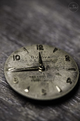 IMG_5485logo (Annie Chartrand) Tags: watch pocketwatch time clock macro movement numbers dial face hands stilllife antique old classic bulova jewelry rustic gold