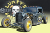 Lumpy's Body Shop - 1932 Ford Rat Rod Pickup (Brad Harding Photography) Tags: 1932 32 ford fordmotorcompany truck pickup utility ratrod antique lumpysbodyshop overlandpark kansas carshow furnituredeals est1936 skull black yellow worldofwheels
