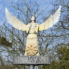 The Angel of the East (johntmyers51) Tags: uk suffolk blythburgh village sign angel angeloftheeast scary
