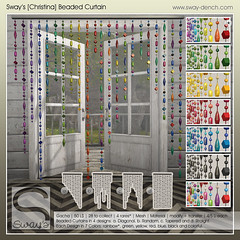 Sway's [Christina] Beaded Curtain | Whimsical (Sway Dench / Sway's) Tags: beaded curtain vr sl colorful gacha home decor