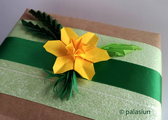 narcissus origami (polelena24) Tags: origami flower narcissus daffodil plant hexagon