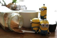 2- Coffee ADAD March 2018 (cheesemoopsie) Tags: minions minion stuart bob kevin coffee espresso instant smileonsaturday sunnyyellow