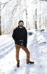 Kevin [02.08.18] (Andrew H Wagner | AHWagner Photo) Tags: 5dmk3 5d3 5dmkiii 5dmarkiii 5dmark3 canon eos 50l 50mm f12 f12l bokeh dof frozen winter ice nature snow cold maryland md cunninghamfalls cunninghamfallsstatepark thurmont outdoors explore exploration exploring hiking person portrait photographer pano panorama panoramic brenizer brenizermethod