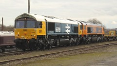 66789 and 66788 Hoo Junction Up Yard (localet63) Tags: gbrailfreight class66 66789 66788 hoojunction upyard