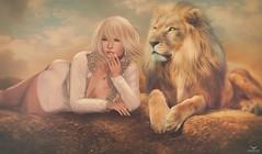 Geeny~Roar..... (Skip Staheli *FULLY BOOKED*) Tags: skipstaheli geenysilverblade avatar virtualworld digitalpainting lion roar fighter seriousrequest bid auction goodcause fantasy dreamy