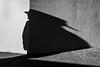 Stretch (johnjackson808) Tags: plywood shadow vancouver sidewalk monochrome fujifilmxt1 fence bw people blackandwhite kitsilano streetphotography westbroadway