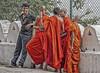 Good friends (bag_lady) Tags: dambulla dambullacaves srilanka monks friends group meeting buddhists buddhism