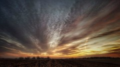cool runnings... (BillsExplorations) Tags: sunrise sunset clouds sky field daybreak evening dusk cool winter cold illinois rockrivervalley sterling runnings fast