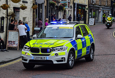 LC17BLZ (firepicx) Tags: lc17blz bmw x5 demonstrator demo blue lights sirens police vehicle 999 emergency services responding alnwick uk british roads policing unit
