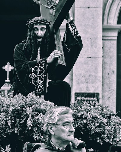Procession of the passion of Our Lord , the god jesus