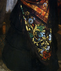 Courbet, The Studio, detail with shawl