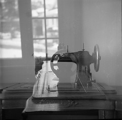 sewing machine (Bernie Vander Wal) Tags: yashicalm ilfordhp5 doubleexposure hc110 standdeveloped