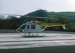 G-BHXU (wiltshirespotter) Tags: bell 206 liskeard jetranger castleair