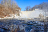 Great Falls and a rainbow (jennifer.yakeyault) Tags: landscape waterfall powerful rainbow winter trees forest woods waves rapids energy greatfalls fallsvillage canaan connecticut newengland housatonicriver river snow ice frozen cold beautiful
