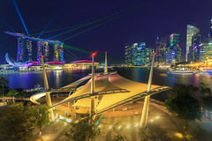 In the clear light of the night (Zur@imiAbro@d) Tags: singapore skyline show lasershow architecture city centralbusinessdistrict marinabaysands green longexposure light lighting tropics humid laser laserlights amphitheatre zurimiabrod colors vibrant