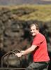 David Gets Ready To Climb Down (wyojones) Tags: hawaii hoist halaeacurrent kalae southpoint fishing fisherman hawaiian cliffs lookover pacific ocean water down david family