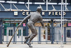 "Roberto Clemente Statue looks in the empty PNC Park. (jimbobphoto) Tags: 21 clemente ""robertoclemente"" mlb pittsburgh pennsylvania pirates baseball statue sports"