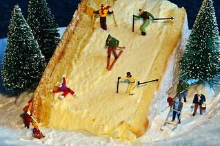 Abfahrt auf der Käsesahnetorte