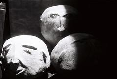 (grousespouse) Tags: srilanka 35mm analog film sculpture analogue art blackandwhite ilfordpan100 croplab grousespouse pentaxk1000 50mm