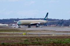 Cathay Pacific 1st Airbus A350-1000 (Planes Spotter And Aviation Photography By DoubleD) Tags: airlines cathay pacific liner jet commercial wide body airbus a350 a3501000 xwb first spotter spotting aviation air plane planes canon eos