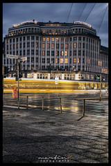 Soho House Berlin (Krueger_Martin) Tags: city urban weitwinkel wideangle festbrennweite primelense 30mm berlin langzeitbelichtung light lights licht lightstream tram strasenbahn bvg traffic verkehr canoneos7d hdr photomatix night nacht colorful bunt farbig architecture architektur