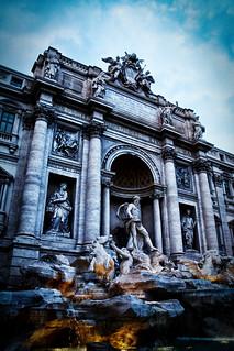 La dolce vita. Fontana de Trevi. Roma