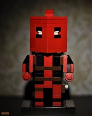 cubedude deadpool (notatoy) Tags: lego geek cubedude brick figures deadpool marvel