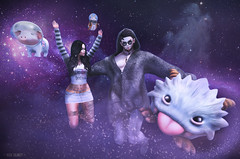 Entering the Milky Way (ᴰᴱᴿᴲᴷ) Tags: catwa space hipster poro league legends pig pet adventure fun pets stars universe aliens galaxy family