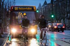 Bikes on Frederiksberg Allé in the Rain, Copenhagen, Denmark (København, Danmark) (Kristoffer Trolle) Tags: bikes bicycle copenhagen denmark xf90mmf2 cykel københavn danmark bus 6a movia xt20