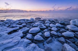 Rocks in the Seaside Freezer