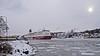 The ferry Mariella arriving in Stockholm (Franz Airiman) Tags: vinter winter snö snow is ice cold kallt minusgrader stockholm sweden scandinavia ferry färja mariella msmariella vikingline båt boat ship fartyg