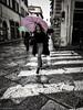 Strisce (sladkij11) Tags: streetfotofirenze streetphotography strisce iphone ragazza ombrello umbrella