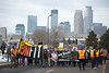 Protest against Donald Trump on the anniversary of his inauguration (Fibonacci Blue) Tags: minneapolis mpls protest trump march demonstration republican event gop dissent outcry activism outrage twincities activist minnesota unfit