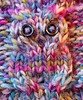 MM 'greater speckled cable-knit owl' (chris p-w) Tags: macromondays speckled cableknit hat specklywool colours macro flecked multicolour olympusomd microfourthirds wool homemade handknit owl buttons