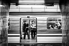 Stop (TS_1000) Tags: prag sw metro ubahn subway platform blackandwhitephotography olympus stop halt