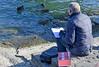Dessine moi un oiseau... (Diegojack) Tags: morges vaud suisse scènedevie dessin oiseaux canards