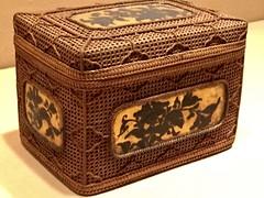 1-4 Bamboo Art at The Met (MsSusanB) Tags: rattan gold peonies bamboo metropolitan museumofart metmuseum japan sculpture
