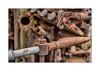 Abspeerhahn (Fujigraf) Tags: zahn zeit grünspan alt old maschine hahn rohr eisen blech motor hdr fuji fujigraf xt20 pentacon 50mm 18 rost farbe