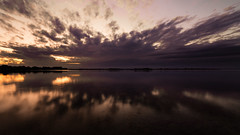 Reflection (Untalented Guy) Tags: reflection riflesso water sea portocesareo porto sky sunset tokina 16mm 1628 tramonto acqua mare crepuscolo cielo long expoure purple porpora viola