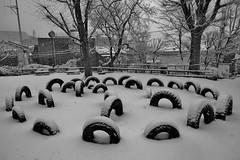 Winter Tires (namhdyk) Tags: tokyo winter snow january canon canonpowershot canonpowershotg7x