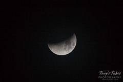 Partial phase of the lunar eclipse