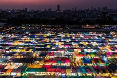 Bangkok   |   New Rot Fai Market Ratchada (JB_1984) Tags: rotfaimarket newrotfaimarket market nightmarket trainnightmarket colour patchwork urban cityscape skyline dusk evening ratchada dindaeng bangkok thepmahanakhon thailand kingdomofthailand nikon d500 nikond500