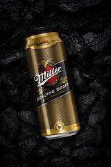 Miller Beer (Andrey Mikhaylov) Tags: beer miller speedlite studio productphotography compositing setup stipbox beverage photography golden dark product darkbackground