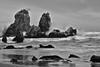 Seascape #5 (daniel0027) Tags: sea ocean eastsea sprayofwater seascape longexposure rocks wildwaves monochrome coast chuambeach paleclouds seagulls